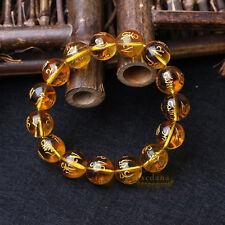 Buddhist Mantras Bracelet Golden Coloured Glaze Beads Carved Om Mani Padme Hum