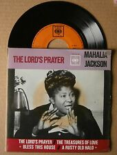 "7"" Mahalia Jackson The Lord's Prayer Holland EP Cbs 1962"