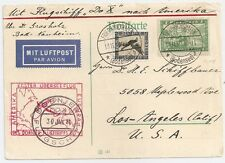 1930 GERMANY TO USA DOX DORNIER AND ZEPPELIN COVER, GREAT STAMPS / CANCELS
