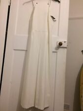 Topshop White Dungaree Dress - Size 10