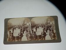 ANTIQUE UNDERWOOD STEREOVIEW CARD Japanese Pontoon Corps at Tokyo