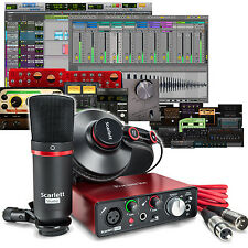 Focusrite Scarlett Solo Studio 2nd Gen USB Audio Interface + ProTools