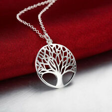 1 Pc Exquisite Tree of Life Design Necklace Sliver Plated Pendant Jewelry