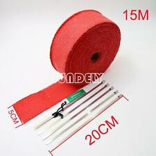 """2"""" x 50ft Red Exhaust Heat Wrap Manifold Downpipe High Temp Bandage Tape Roll"""