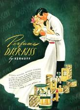 Djer Kiss Perfume - by Kerkoff  -  Kisses Giving, Kisses Taking  -  1941