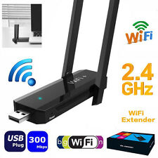 High Gain 300Mbps 802.11b WIFI Repeater 2.4GHz Range Signal USB Extender Booster