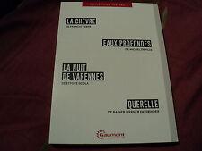 """COF 4 DVD NF """"LA CHEVRE / EAUX PROFONDES / LA NUIT DE VARENNES / QUERELLE"""""""