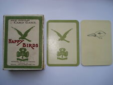 C1920S VINTAGE HAPPY BIRDS APPROVED BY GIRL GUIDES HEADQUARTERS CARD GAME