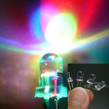 LOTS 100PCS 5MM RGB Red Green Blue Fast&Slow Flash LED Lamps Rainbow Blink Diode
