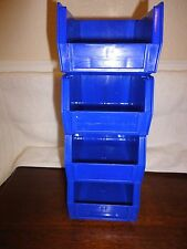 4-Pack Plastic Stackable Tool/Supply Small Storage Container Box Bin Organizer B