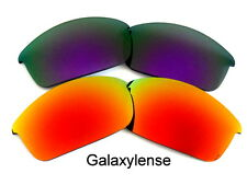 Galaxy Replacement Lenses For Oakley Flak Jacket Purple&Red 100% UVAB 2 Pairs