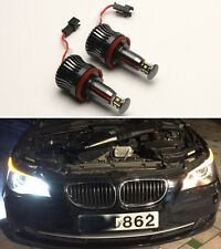 2x WHITE H8 20W ANGEL EYES light LED HALO Cree For BMW E82 E87 E92 E93 E60 E61
