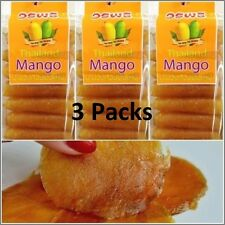 Mango Sheet Roll Chewing Dried 3 Packs Thai Food Camping Delicious New Snacks