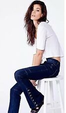 NWT Free People 'Skyler' Seamed Skinny Flare Jeans Size 24