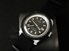 Trendy vintage retro winding watch Timex GB  serviced & timed 1974 black dial