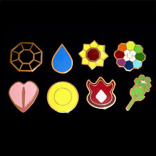 8Pcs/Set For Pokemon Brooch Pip Kanto Gym Badges GEN 1 League Cosplay Gifts