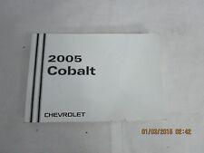 2005 - 05 CHEVY COBALT USER OWNER MANUAL HANDBOOK GUIDE INFORMATION BOOK