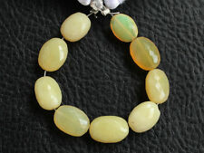Natural Yellow Opal Faceted Oval Nugget Semi Precious Gemstone Beads
