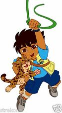 DIEGO Holds Baby Jaguar from Go DIEGO Go Kids TV Window Cling Decal Sticker -NEW