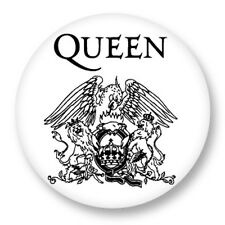 "Pin Button Badge Ø25mm 1"" Queen Freddy Mercury UK Rock We Will Rock You"