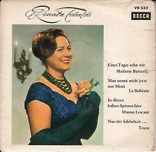 """Renata Tebaldi - Eines Tages sehn wir Madame Butterfly, 7"""" EP"""