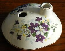 An unmarked pastille burner mushroom with periwinkle floral pattern