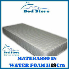 MATERASSO LETTO WATER FOAM H18 120X200CM ANALLERGICO ORTOPEDICO MADE IN ITALY
