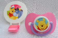 PJs �� Disney Pooh Bear �� DUMMY PACIFIER + CLIP + MAGNET FOR REBORN BABY DOLL