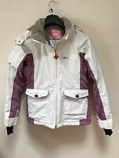 Foursquare IVORY/Embroidered PINK Insulated Snowboard Ski Jacket Women's size s