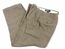 Men's Vintage Polo Ralph Lauren wool tweed slacks pants 36x31 Elite zipper