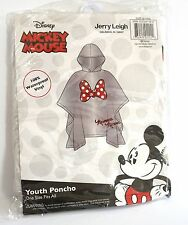 Disney Youth Kids Minnie Mouse Bow Parts Rain Poncho Keep Dry