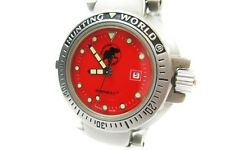 Auth HUNTING WORLD SPORTABOUT Reds Dial Stainless Steel Ladies Watch HW4760L