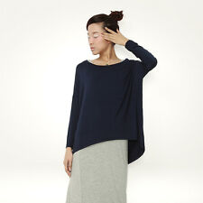 ❤Asymmetrical Navy Shirt Top❤Japan Japanese Korean Fashion blouse longsleeve S