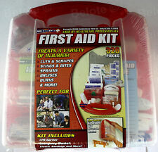 First Aid Kit 326 Pieces Treats Sprains,Bruises,Cuts,Scarpes, Burns Stings 80064
