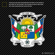 Central African Coat of Arms Sticker Decal Vinyl Republic flag CAF CF