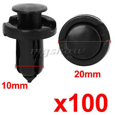 100Pcs 10mm Honda Clips Plastic Push Type Rivet Retainer Fastener Bumper Pin