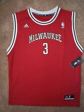 ($40) Milwaukee Bucks BRANDON JENNINGS nba ADIDAS Jersey YOUTH KIDS BOYS (xl)