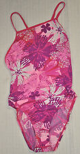 SPEEDO Floral Mist Axcel Back Endurance+ SWIMSUIT One Piece 8199019 Sz 36 Pink