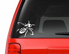 """Antique Honeybee Decal Sticker - White 5"""" Vinyl Decal for Car, Macbook, or Other"""