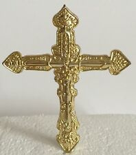 GOLD PLASTIC CROSS  Holy Communion Christening  Confirmation CAKE TOPPER PICK