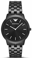 Emporio Armani AR2488 Retro Black Dial Black IP Stainless Steel Men's Watch