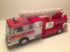 SONIC FIRE ENGINE FIRE DEPT. TRUCK W/ SIREN SOUND PULL BACK ACTION Diecast #4589