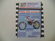 advertising Pubblicità 1987 FANTIC MOTOR TRIAL 303 PROFESSIONAL