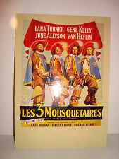 CARTE POSTALE CINEMA - LES 3 MOUSQUETAIRES