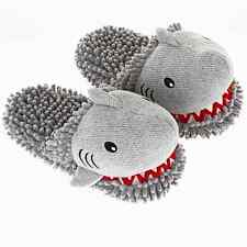 Aroma Home Fuzzy Friends Fun Limited Edition Grey Shark 3D Novelty Slippers