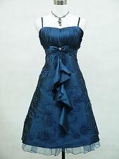 Cherlone Übergröße Blau Cocktailkleid Ballkleid Abendkleid Brautjungfer Kleid 52