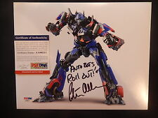 PETER CULLEN OPTIMUS PRIME TRANSFORMERS SIGNED 8X10 PHOTO COA PSA/DNA 100%REAL