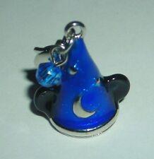 DISNEY MICKEY MOUSE FANTASIA SORCERER HAT BLUE LOBSTER CLASP BRACELET CHARM