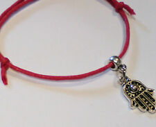 Kabbalah Red cord Lucky Hamsa Bracelet Protection Evil Eye, Success Adjustable