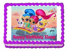 Shimmer and Shine party edible cake image cake topper frosting sheet